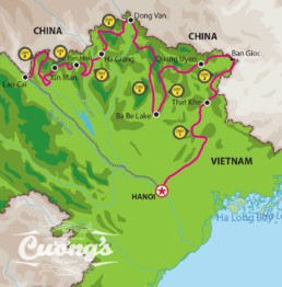 Ha Giang Border Tour Map