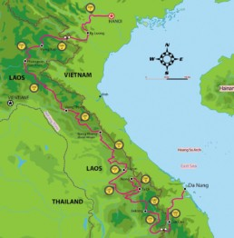 VN Laos Ho Chi MInh Trail Tour Map