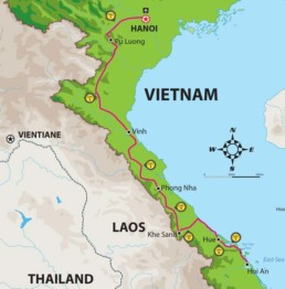 Ho Chi MInh Trail Tour Map