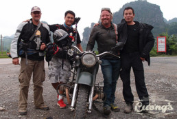 Cuong with Charley Boorman while filming in Vietnam