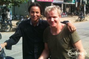 Cuong and Gordon Ramsey in Vietnam