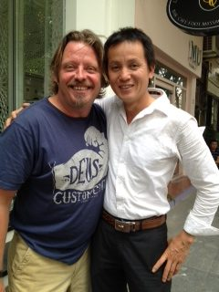 Cuong With Charley Boorman in Vietnam