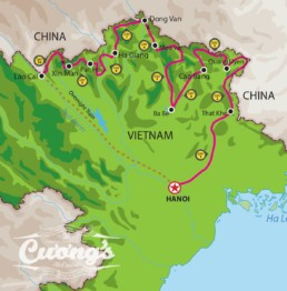 Ha Giang off-road 10D 10N Map